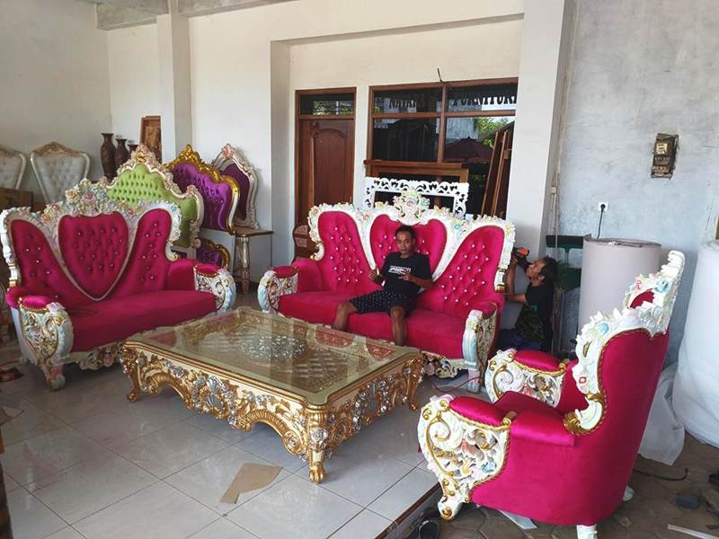 Set Sofa Tamu Bellagio Royal Ukiran Mewah