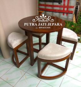 Set Meja Cafe Terbaru Model Bulat